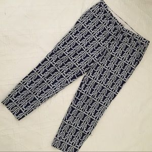 J Crew Rope Print Cropped Pants